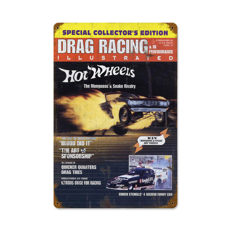 Drag Racing Cover Vintage Sign