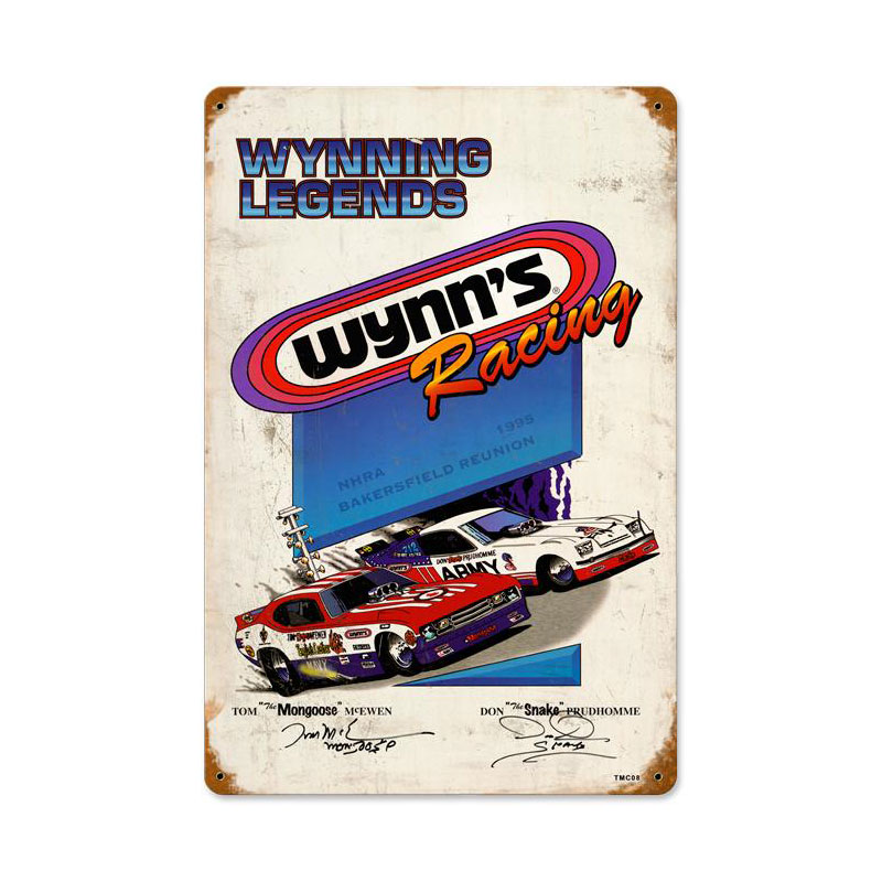 Wynning Racing Vintage Sign