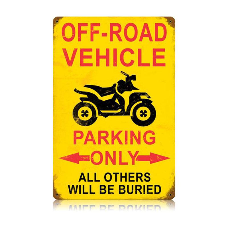 Off Road Parking Vintage Vintage Sign