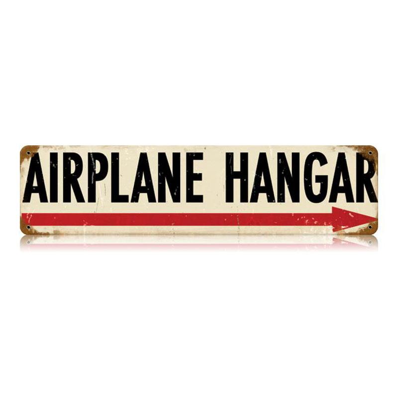 Airplane Hangar Vintage Sign