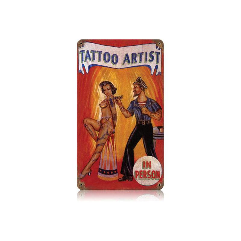 Tattoo Artist Vintage Sign